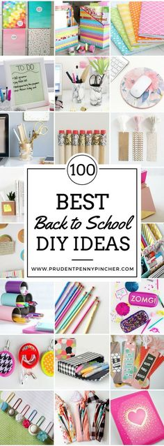 100 meilleures idées de bricolage pour la rentrée des classes Impress your friends and show off your creativity with these back to school DIY ideas. These school supply DIY ideas will get you excited about going back to school! Diy École, Easy Diy, Fun Diy, Sell Diy, Mason Jar Crafts, Mason Jar Diy, School Supplies Tumblr, Diy Back To School Supplies, Back To School Diy Organization