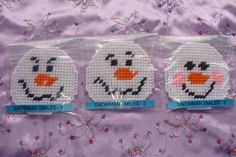 Snowball Face Christmas Ornaments by ScraplasticDesigns on Etsy, $3.00