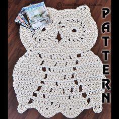 Rope Owl Rug Pattern Crochet Pattern Owl by TwistedThreadAndHook