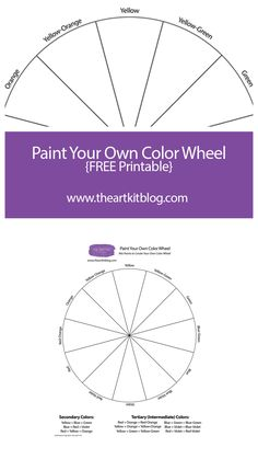"""Enjoy this free printable- perfect for learning about color mixing and the color wheel. Simply click the """"checkout"""" button below. Don't worry, it's free!"""