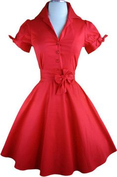 tie sleeve lucy day dress - red   le bomb shop. Would love for christmas dayx