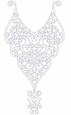 Hand embroidery designs for kurtis neck1014