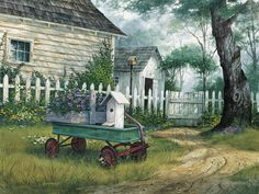 Antique Wagon Painting Michael Humphries