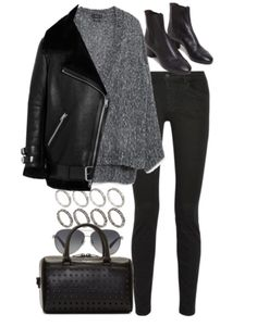Harry's Clothes, How to style a black shearling jacket (requested)