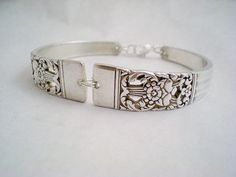 Spoon Bracelet Vintage Silverware Jewelry (Coronation, 1936) by monpetitchouboutique