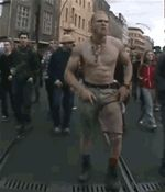 the infamous techno viking (gif)