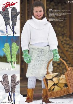 Awesome mittens, overknee socks, furry skirt and a cool sweater. Anyone up for some knitting?