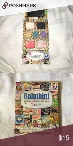 The Balm: Balmbini Palette Volume 2 Barely used The Balm make up pallet. Palette includes eye shadow, highlight color and lip/cheek cream and gloss. The Balm Makeup Eyeshadow