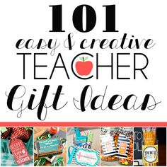 101 easy & creative teacher gift ideas - staff appreciation - back to school night - PTA teacher appreciation week - gifts for teachers on a budget - creative free printables and ways to say thank you at the end of the year or I appreciate you any time! Back To School Teacher, School Staff, First Day Of School, School Fun, School Ideas, Easy Teacher Gifts, Best Teacher, Teachers' Day, Teacher Appreciation Week