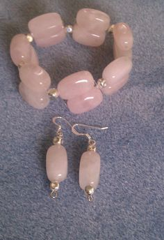 Pink quartz with silver accents Earring and by BoldenBoutique, $15.00