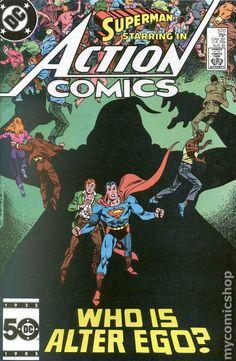 Action Comics (1938 DC) 570 Superman comic book cover vintage
