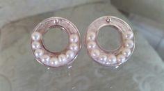 Arracadas de plata .925 con perlas mini....