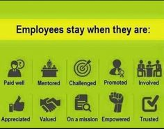 Employees stay when they are given internal and external rewards #empoyeeengagement #satisfaction
