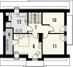 Projekt małego domu nowoczesego do 100m2 - Murano S. | Quattro Domy 1, Studio, Bungalow, Bungalows, Study