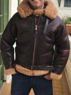 Sheepskin Jacket, Shearling Jacket, Bomber Jackets, Leather Jackets, Hooded Jacket, Fur, Mens Fashion, Pants, How To Wear