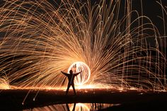 Steel Wool Fire Spinning