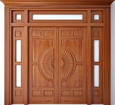 This kind of photo is seriously a formidable style technique. Pooja Room Door Design, Front Door Design Wood, Wooden Door Design, Wood Doors Interior, Double Door Design, Door Design Interior, Door Gate Design