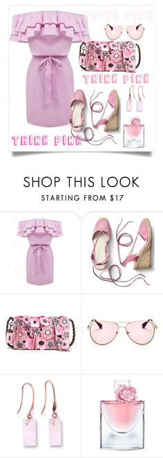 """""""think pink"""" by puljarevic ❤ liked on Polyvore featuring Gap, Sonix, Lancôme, Pink and summerstyle"""