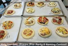 A fantastic idea for seniors during National Assisted Living Week or anytime...a Pizza Pie Party and Naming Contest!
