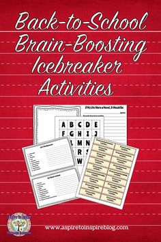 Creative and thoughtful upper elementary and middle school back-to-school classroom icebreaker ideas with free printables