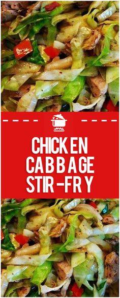 healthy stir fry Chicken Cabbage Stir-Fry Page 2 Home Family Recipes Healthy Stir Fry, Veggie Stir Fry, Chicken Vegetable Stir Fry, Keto Stir Fry, Vegetable Dish, Stir Fry Recipes, Cooking Recipes, Best Stir Fry Recipe, Stir Fry Dishes