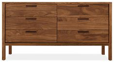 With clean lines and meticulous craftsmanship, our Mills dresser is a warm and modern interpretation of the Arts & Crafts tradition. Built in Pennsylvania, each piece is available with your choice of pulls: oil-tanned leather, which will gain a patina over time, or natural or stainless steel. An oil-and-wax finish highlights the grain of the wood and gives this timeless dresser a natural luster.
