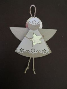 STELLEDILATTA: Angioletto di Natale 3d Christmas, Christmas Angels, Christmas Projects, Christmas Decorations, Christmas Ornaments, Diy And Crafts, Crafts For Kids, Paper Crafts, Christmas Activities For Kids