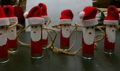 Santa shot gun shell ornaments