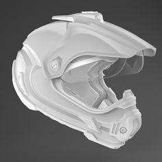 Motocross Helmet by Moran Goldstein, via Behance