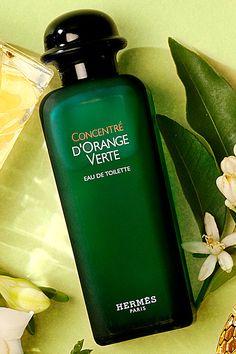 hermes D'Orange Vert, a favorite scent.......Eau d`Orange Verte is a classic fragrance based on Eau de Cologne Hermes created in 1979 by Françoise Caron. The author of the recreation (2009) is Jean-Claude Ellena. The fragrance is a part of Colognes collection of the House of Hermes.....The fragrance features orange, amber, patchouli, basil and cedar.
