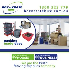 Moving Business in Perth? If you are relocating offices than contact Box n' Crate Hire - Packing Made Easy! Box n' Crate Hire are the Perth Moving Supplies company. Moving business does not have to be stressful if you are organised, use the best equipment available and keep the downtime to a minimum. Order online: https://boxncratehire.com.au/moving-business/#first Or phone: 1300 323 779 #boxncratehire