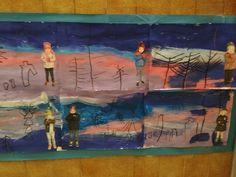 HIVERN - Material: papaer, pintura, ceres toves, fotografia, tisores, cola - Nivell: P4 INF 2015/16 Escola Pia Balmes
