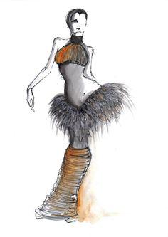 quick sketch, inspir fashion, fashion sketches, art, costumefashion illustr