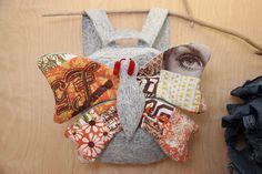 Butterfly backpack, Acid wash denim bag , Girl denim backpack , jeans toddler backpack , Butterfly bag , Stone wash jean Orange backpack by SecondBirthday on Etsy