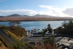 The view from above Port Askaig looking over the Sound of Islay to the Isle of Jura