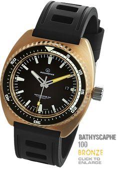 CLICK TO VIEW Bathyscaphe 100 Bronze Diver