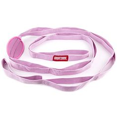 Peace Yoga Durable 7ft Cotton Yoga Stretching Exercise Strap Band with Multiple Grip Loops  Pink * Want additional info? Click on the image.