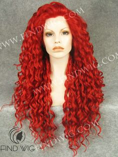 Drag Queen Wig. Curly Red Long Wig. New Style Wig N18-3100. Synthetic Wigs. Drag Queen Wigs. Red Wig. http://findwig.com/drag-queen-wig-curly-red-long-hair.html