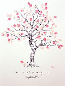 Wedding diy fingerprint tree template to download print fingerprint family tree guest book im definitely doing this pronofoot35fo Gallery