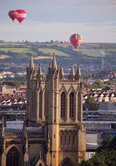 Bristol Balloon Fiesta and the Bristol Cathedral