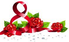 8 марта с розами PNG изображения Clipart