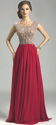 Prom Dresses Evening Dresses by LARA Designs<BR>32460<BR>Scoop neckline cap sleeves fully beaded bodice leading to the key hole back