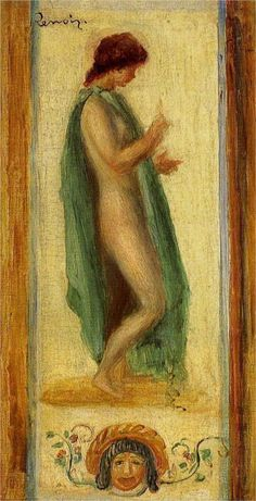 Pierre-Auguste Renoir (French 1841–1919) [Impressionism] Study of a Woman, for Oedipus, 1895. Private Collection.
