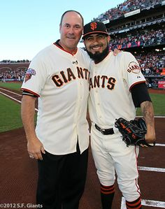 "Will ""the thrill"" my all time fav Giant!!  Will Clark and Sergio Romo"
