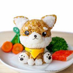 #dog #puppy #riceball #onigiri #bento #charaben #kyaraben #cutefood #kawaiifood #buzzfeedfood #instafood #foodart #creativefood #cutefoodies #foodforfun #doglovers #shibainu