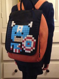 Custom pixel art bac