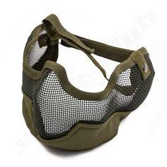 Gitterschutzmaske groß oliv grün OD   #shootclub #airsoft #softair