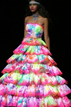 lisa frank like multi colored dress clothes accessories hair and makeup pinterest prom dresses the ojays and lisa frank - Colors For Prom