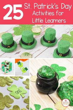 Plenty of St. Patrick's Day activities to keep your classroom having fun and learning at the same time. From hands on activities to classroom resources, you won't have to search far for some great activities. #stpatricksday #leprechaun #preschool #kindergarten St Patrick Day Activities, Earth Day Activities, Holiday Activities, Craft Activities For Kids, Holiday Crafts, Holiday Fun, Crafts For Kids, Primary Resources, Classroom Resources