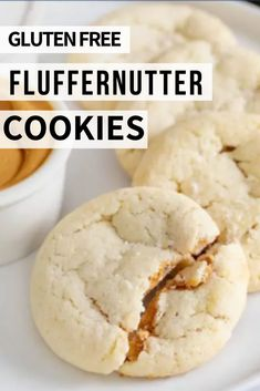 Dress up a simple drop sugar cookie for any holiday, or to suit any taste, with this recipe for gluten free fluffernutter cookies. Gluten Free Deserts, Best Gluten Free Recipes, Gluten Free Sweets, Foods With Gluten, Gluten Free Cookies, Healthy Cookies, Gluten Free Baking, Baking Tips, Baking Recipes